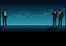 Share index moving erratically Stock Image