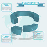 Share infographics vector Stock Image