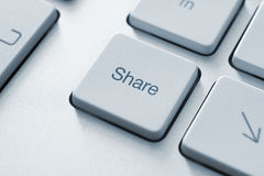 Share Key. Share button on the keyboard. Toned Image Royalty Free Stock Photos