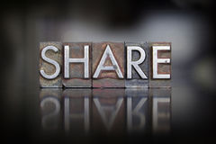 Share Letterpress Royalty Free Stock Photos