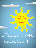 Share a little sunshine Royalty Free Stock Photos