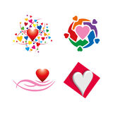 Share love help symbol Stock Images