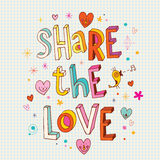 Share the love. Unique hand lettering Stock Photography