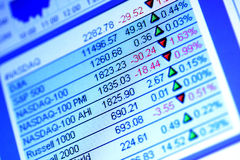 Share market data Stock Image