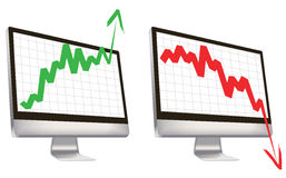 Share market monitor Royalty Free Stock Photo