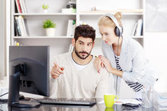 Share the music at the office Stock Photos