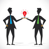 Share new idea two businessmen concept Royalty Free Stock Photo