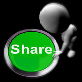 Share Pressed Means Sharing With And Showing Royalty Free Stock Image