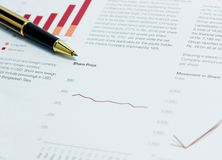 Share price analysis Stock Images