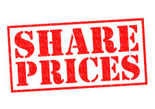 SHARE PRICES Royalty Free Stock Photography