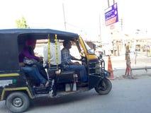 Share a Rickshaw. In Ludhiana, Punjab, India Royalty Free Stock Photography