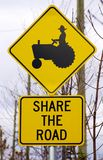 Share the road Royalty Free Stock Photos