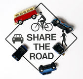Share the road Royalty Free Stock Image