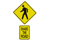 Share the road sign Royalty Free Stock Photos