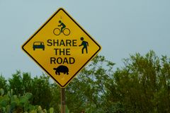 Share the Road Stock Images