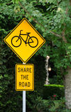Share the road sign Royalty Free Stock Images
