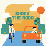 Share the road Royalty Free Stock Images