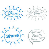 Share Share Share Royalty Free Stock Photography