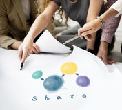 Share Sharing Connecting Network Social Media Concept royalty free stock photo