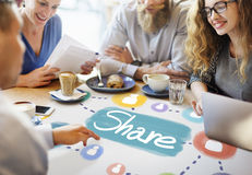 Share Sharing Connection Networking Concept Royalty Free Stock Photo