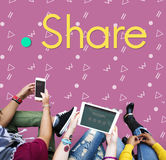 Share Sharing Ideas Graphic Concept Royalty Free Stock Images