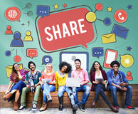 Share Sharing Portion Media Connection Feedback Concept Royalty Free Stock Photography