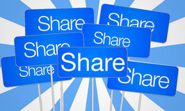 Share social media Stock Photo