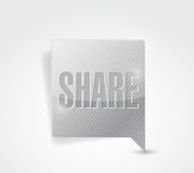 Share social media button pointer illustration Royalty Free Stock Photo