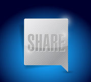 Share social media button pointer Stock Photography