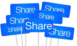 Share social media concept Stock Photography