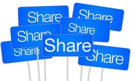 Share social media concept Stock Photography