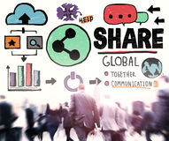 Share Social Media Connection Social Networking Communication Co Stock Images