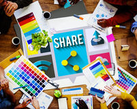 Share Social Networking Global Communication Concept Stock Photo