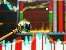 share,stock market graph Stock Images