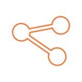 Share symbol social media icon Stock Photography