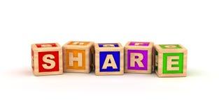 Share Text Cube Royalty Free Stock Photo