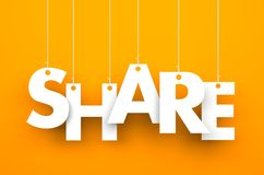 Share. Text on the string Royalty Free Stock Photo