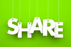 Share. Text on the string Stock Photo