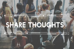 Share Thoughts Aspiration Motivation Concept Royalty Free Stock Photo