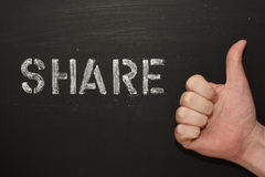 Share Thumbs Up Stock Images