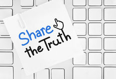 Share the truth. On social network royalty free stock photos