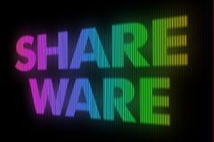 Share ware sign board Stock Photography