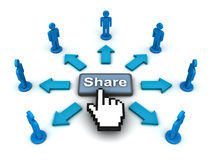 Share web button concept Royalty Free Stock Image