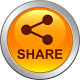 Share web button icon. Share web icon button on isolated white background - vector illustration royalty free illustration
