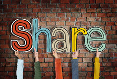 Share Word Concepts  on Background Royalty Free Stock Images