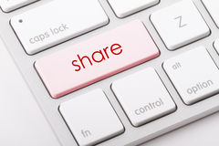Share word on keyboard. Share word written on computer keyboard Royalty Free Stock Photography