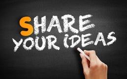 Free Share Your Ideas Text On Blackboard Stock Photos - 197825053