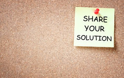 Share your solution concept Royalty Free Stock Photo
