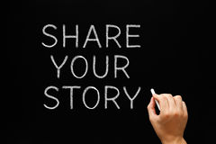 Share Your Story Blackboard Royalty Free Stock Photos