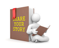 Share your story. Education concept. Separated on white Royalty Free Stock Photo